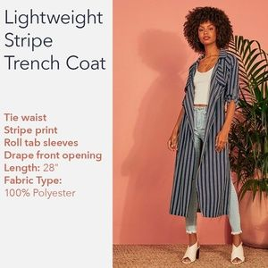 Lightweight Stripe Trenchcoat 🆕️